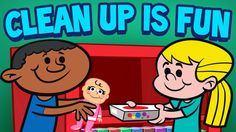"""Clean Up is Fun"" FREE music video and lyrics. This is a popular cleaning song for children.  As children sing along to this lively tune, it turns a chore into a fun activity! Transitional songs play a vital role in the classroom and at home.  By simply sharing a song that invites children to participate, it will add a positive new dimension to that task."