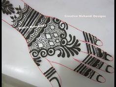 YouTube #DIY #khaleeji #gulf style #henna #mehndi #design tutorial