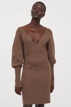 25 Elegant Wardrobe Basics That Are a Step Above the Rest | Who What Wear Wardrobe Basics, Fall Wardrobe, Ribbed Knit Dress, Rib Knit, Fall Dresses, Short Dresses, Daytime Dresses, Chic Dress, Stylish Dresses