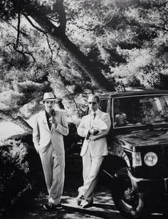 Jacques de Bascher and Karl Lagerfeld by Helmut Newton
