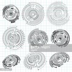 Vector Art : Abstract Technology Design Elements
