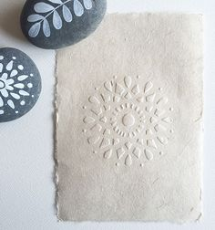 Hand embossed paper