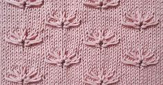 The stitch looks like little Cornflower on a stockinette background. This stitch is one of those knitting patterns that looks so intimidating, but once you understand the method is a lot of fun to knit. Lace Knitting Stitches, Knitting Charts, Loom Knitting, Knitting Designs, Knitting Patterns Free, Knitting Projects, Lace Patterns, Stitch Patterns, Crochet Patterns