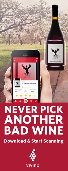 Stop drinking bad wine, start using the Vivino app! Scan any wine label or wine list, and instantly find ratings, reviews, prices and food pairings for that wine. Trusted by over 19 million users, Vivino will help you find and remember the wines you love and avoid the wines you don't. Download the app today!