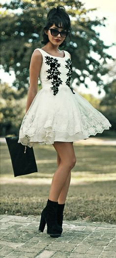 floral embroidered White Dress 1be72aa9c