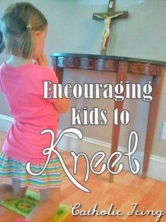 Encourage kids to kneel by letting them make their own portable kneeler.