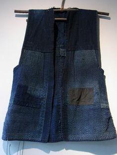 Sodenashi ( work vest ) with Sashko - stitched