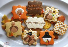 Thanksgiving Cookies: Trending Over Last Week Fall Decorated Cookies, Fall Cookies, Cut Out Cookies, Iced Cookies, Cute Cookies, Royal Icing Cookies, How To Make Cookies, Holiday Cookies, Cupcake Cookies