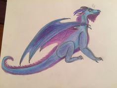 Blue dragon- pencils