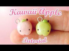 Kawaii Apple Charm │ Polymer Clay Tutorial - YouTube