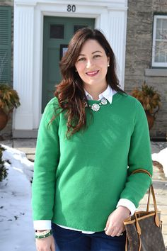 Celebrating this Life: The Grass is Getting Greener #ootd #whatIwore #preppy #louisvuitton #weekendwear #greensweater #fashionblogger #fblogger