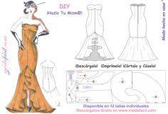 Descarga gratis los patrones del vestido de fiesta flamenca
