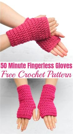 Crochet Fingerless Gloves Free Pattern, Crochet Mitts, Crochet Gratis, Fingerless Gloves Knitted, Mittens Pattern, Free Crochet, Cotton Crochet, Crochet Hand Warmers, Crochet Accessories