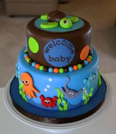1000 Images About Under The Sea Cakes On Pinterest