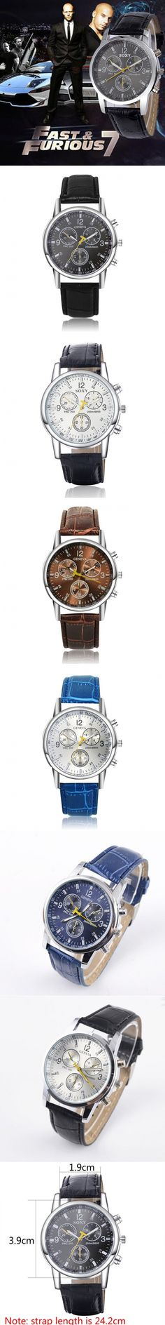 2017 New Fashion Casual Business Leather Strap Quartz Watches | Weird Deck - created via https://pinthemall.net