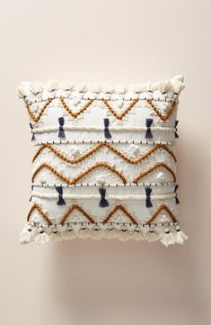 White Pillows by Vineet Bahl, Bahl Embellished Pillow