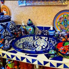 I love the bold colors and patterns of talavera tiles.