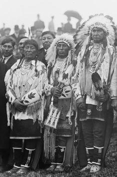 Left to right: Plenty Coups, Medicine Crow, White Man Runs Him