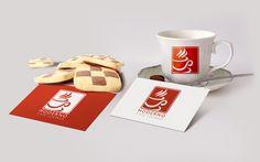 Moderno Cafe Coffee Shop Lounge PreMade Custom Logo Design - Coffee Studio Shop Lounge Store Company Business Coffee Beans Cup Tea Design by LogoToGoStudio on Etsy