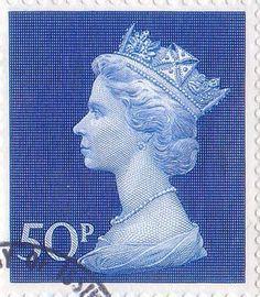 Definitive 50p Stamp (1970) Ultramarine