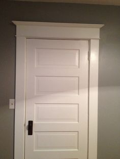 5 panel door-I like how this is framed out
