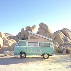 VW camper van in the desert- I want one of these so much.