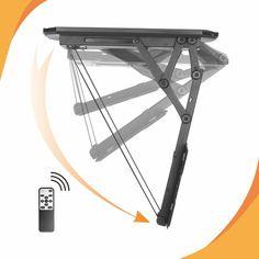 """Ceiling Mount Bracket for TVs, Height Adjustable TV Mount Remote Control Motorized Flip Down TV Ceiling Mount"""