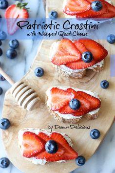 Berry Crostini with Whipped Goat Cheese @Chung-Ah Rhee