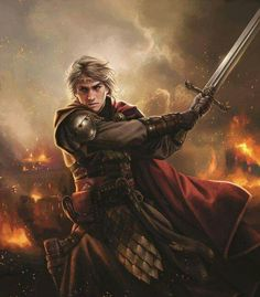 Aegon o conquistador Fantasy Warrior, Fantasy Male, Fantasy Rpg, Medieval Fantasy, Warrior High, Fantasy Fiction, Dungeons And Dragons Characters, D D Characters, Fantasy Characters