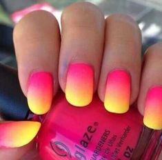 Best Ombre Nail Designs for 2019 – Ombre Nail Art Ideas - cute nails Best Acrylic Nails, Summer Acrylic Nails, Bright Summer Gel Nails, Summer Beach Nails, Beach Pedicure, Pedicure Ideas, Ombre Nail Designs, Acrylic Nail Designs, Acrylic Colors