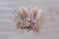 glitter feather holiday decorations - wreath/garland