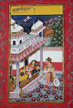Lalit Ragini - Ragamala - Garland of Symphonies -  ca. 1660 Edwin Binney 3rd Collection The San Diego Museum of Art