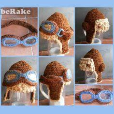 Vendo Crochet, gorro aviador talla adulto. también se pueden hacer talla bebe, niño y adulto....