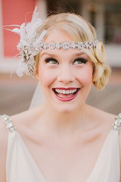 I'd want to do this on one of my clients! I love the headband and the 20s feel!