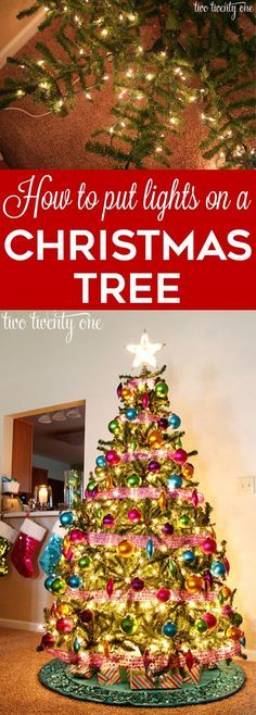 How to put lights on a Christmas tree so it glows! This is a great idea that really works!