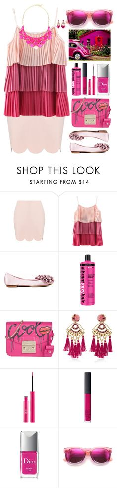 """""""Depeche Mode """"Just Can't Get Enough"""""""" by sinesnsingularities ❤ liked on Polyvore featuring Chanel, Furla, Mercedes Salazar, NARS Cosmetics, Christian Dior, Wildfox, George J. Love and PinkOutfits"""