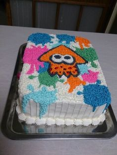 Splatoon cake , birthday cake , home made , bolo decorado