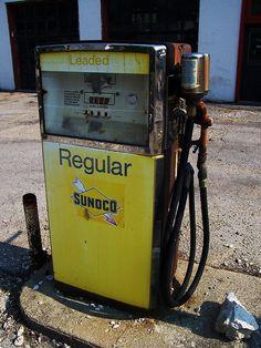 Vintage Sunoco Pump #2 by The Upstairs Room, via Flickr