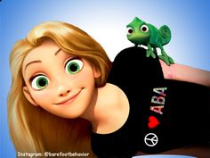 Rapunzel sporting a Peace, Love, ABA shirt - somehow that got left out of the movie.