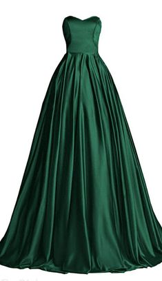 Hunter Green Ball Gown,Sweetheart Bodice Prom Dress,Custom Made Evening Dress,17248