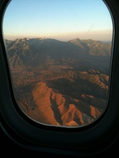 We flew into Salt Lake City just as the sun was setting over the mountains.