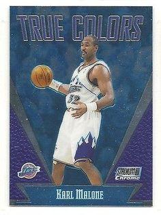 1999-00 Topps Stadium Club Chrome - True Colors - #3 - Karl Malone - Utah Jazz