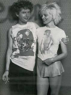 "Malcom McLaren & Vivien Westwood - They owned a shop together where they sold clothes that defined the punk look. Malcom later became the manager/mastermind behind ""the Sex Pistols""."