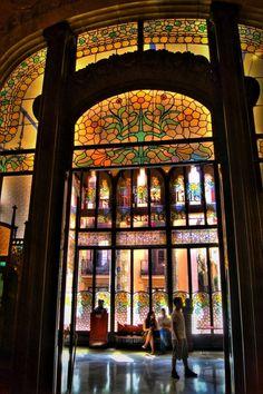 Barcelona, Spain~Inside the Catalan Music Palace,