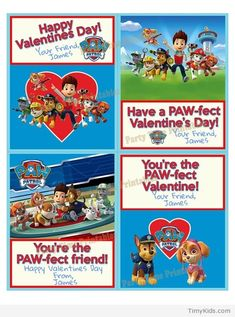 paw patrol printables for kids - TimyKids Nick Jr Paw Patrol, Paw Patrol Party, Paw Patrol Birthday, Valentine Ideas, Happy Valentines Day, 3rd Birthday, Birthday Ideas, Paw Patrol Characters, Paw Patrol Coloring
