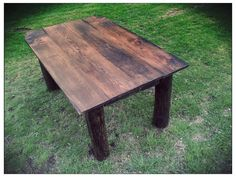 Rustic dining table. by SpottedDogWoodshop on Etsy, $500.00
