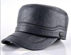 Russia Men Fur Keep Warm Flat top Cap Snapback Classic reto Leather Hats PU Patchwork Cap with Earflaps