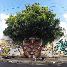Natural vibes from @gabzlpa in the Dominican Republic (http://globalstreetart.com/gabz-lpa-hd). #streetart jd