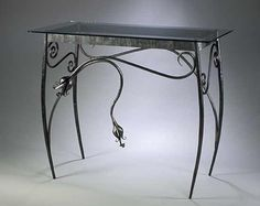 Spring Console Table: Rachel Miller: Steel Hall Table - Artful Home