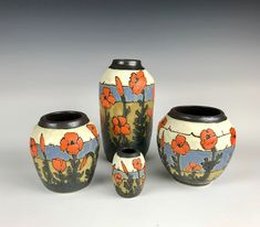 Taira Wiggins | Sweet Earth Pottery | California Poppies